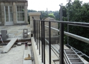 Installation of the Ironart balustrade at Widcombe, Bath