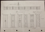 Andy Thearle - drawings for the client. Ideas for the Widcombe balustrade, Bath