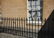 Railing restoration project completed.