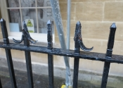 Assembly Rooms, Bath - damaged railings prior to restoration