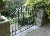 Garden balustrade with decorative lead cast detailing
