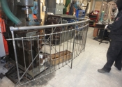 Balustrade constructed and ready for galvanizing