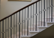 Bespoke balustrade for traditional stone cantilevered staircase, Kintbury Hungerford