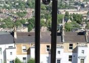 Bespoke balcony balustrade detail in Lansdown, Bath