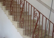 Scrollwork staircase and balustrade