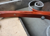 Red oxide primer is used to stabilise the surface of the wrought iron
