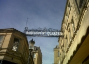 A mock up of how the sign might look to pedestrians.... 'The Bartlett St Quarter'