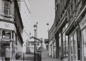 Archive picture clearly showing the sign on the overthrow for the Evans and Owen department store in Bath.