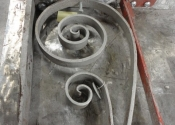 Deep rust areas brazed back to a level.