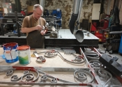 Ironart's Alan Patterson priming with red oxide
