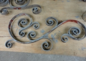 Repairs to the decorative crest section of the overthrow