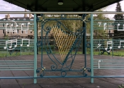 Gerard Loughran's Celtic Harp in situ