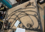 Bespoke forged bed by Ironart of Bath