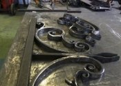 Bespoke entrance gates, assembly - Ironart of Bath