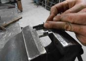 Making bespoke iron catches at Ironart of Bath