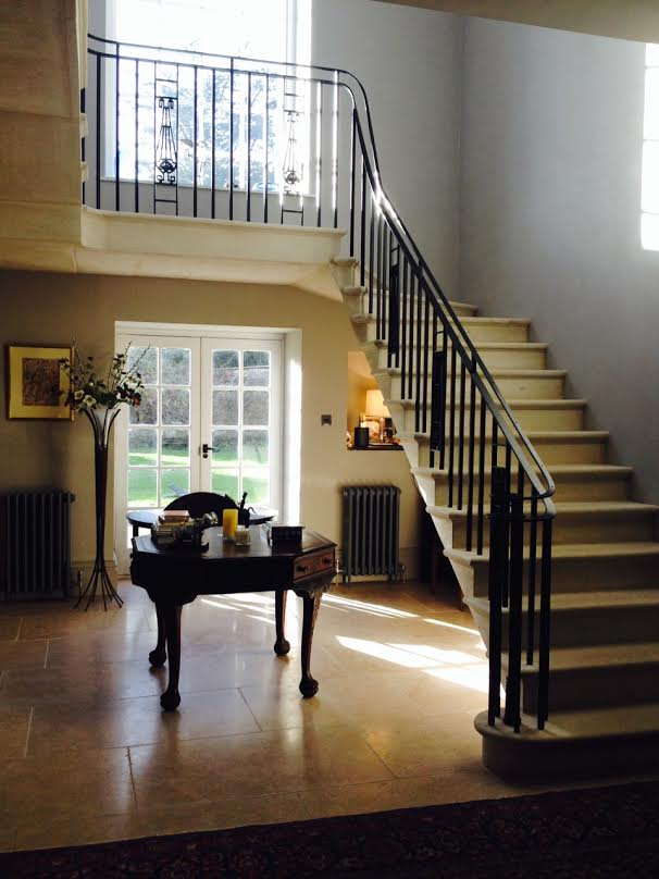 Wrought iron staircase ironart of bath for Georgian staircase