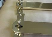 Bespoke brass shutter bars (4)