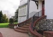 The contemporary balustrade in Saltford, near Bristol