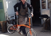 Luke Hannaford takes the new Brompton for it's first test run