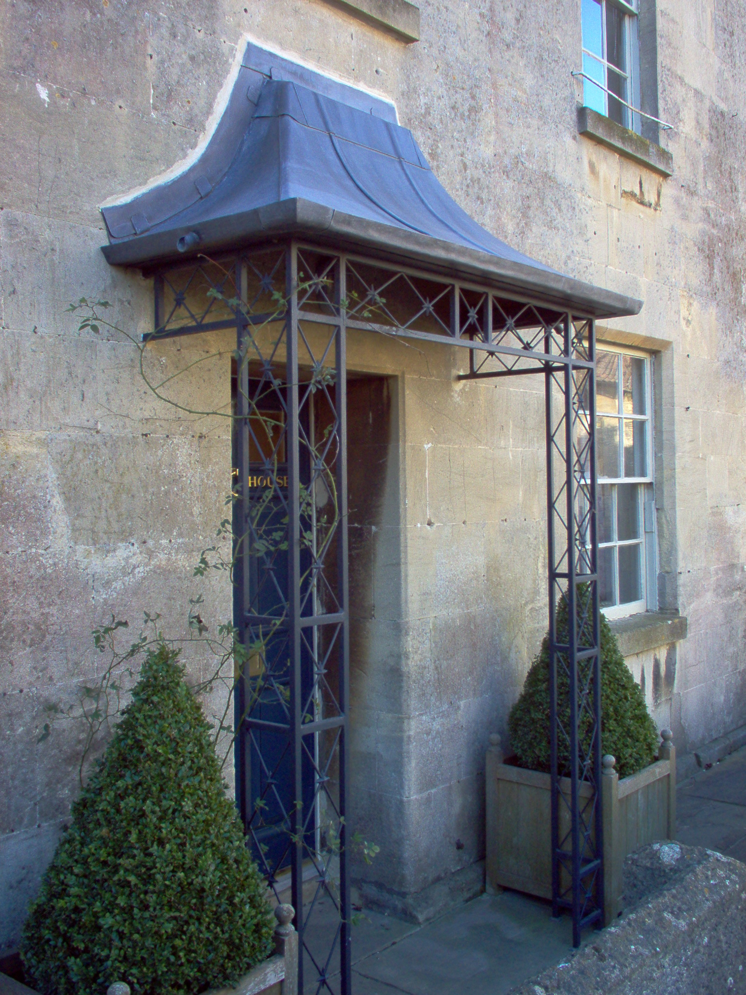 Decorative lead and wrought iron porch Colerne High Street & Porches u0026 Canopies | Ironart of Bath