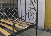 Decorative wrought iron single bed