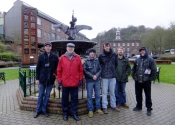 Ironart team visit John Powell at the Museum of Iron, Coalbrookdale