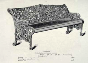 Coalbrookdale Nasturtium bench - original catalogue entry