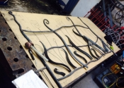 Contemporary forged panel - Ironart of Bath