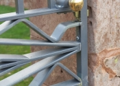 Traditional wrought iron garden gates by Ironart of Bath