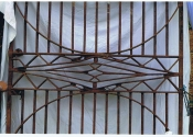 Walled kitchen garden gates from Cothelstone, prior to restoration