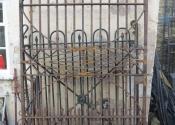 Restored gates outside the workshops at Ironart