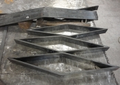 New component parts for the walled kitchen garden gates