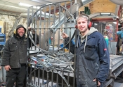 Jason Balchin (pictured left) and Adrian Booth with the new Kitchen garden gates