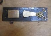 Bespoke shutter bar catch by Ironart of Bath