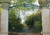 Traditionally made gates for private Wiltshire residence