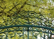 Traditionally made overthrow for gates to private Wiltshire residence