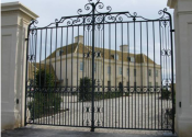 The ancillary gates at Colerne, traditionally made wrought iron double gates