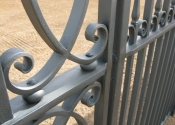 Detail of the entrance gates at Colerne