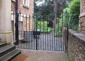 Double side gates at College Fields, Clifton, Bristol