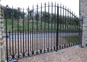 Automated entrance gates - bow top design