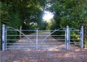 Traditionally made double gates for a private Hampshire estate