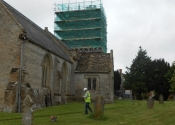 Restoration of the weathervane at St Mary the Virgin Church in Mudford, Somerset