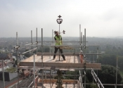 James Cuthbertson on the Evesham Abbey Tower