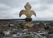Cardinal points on the Evesham Abbey Bell Tower - restoration project