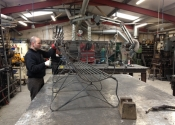 Furniture making at Ironart -  Dominic West