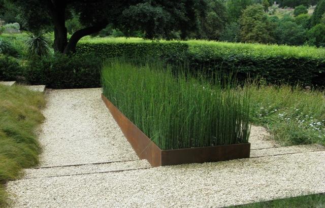 Contemporary steel planters ironart of bath for Contemporary garden planters