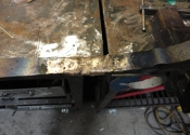Brazing two pieces back together