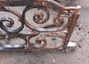 The St Mary Tory chapel gates in the yard at Ironart - prior to cleaning