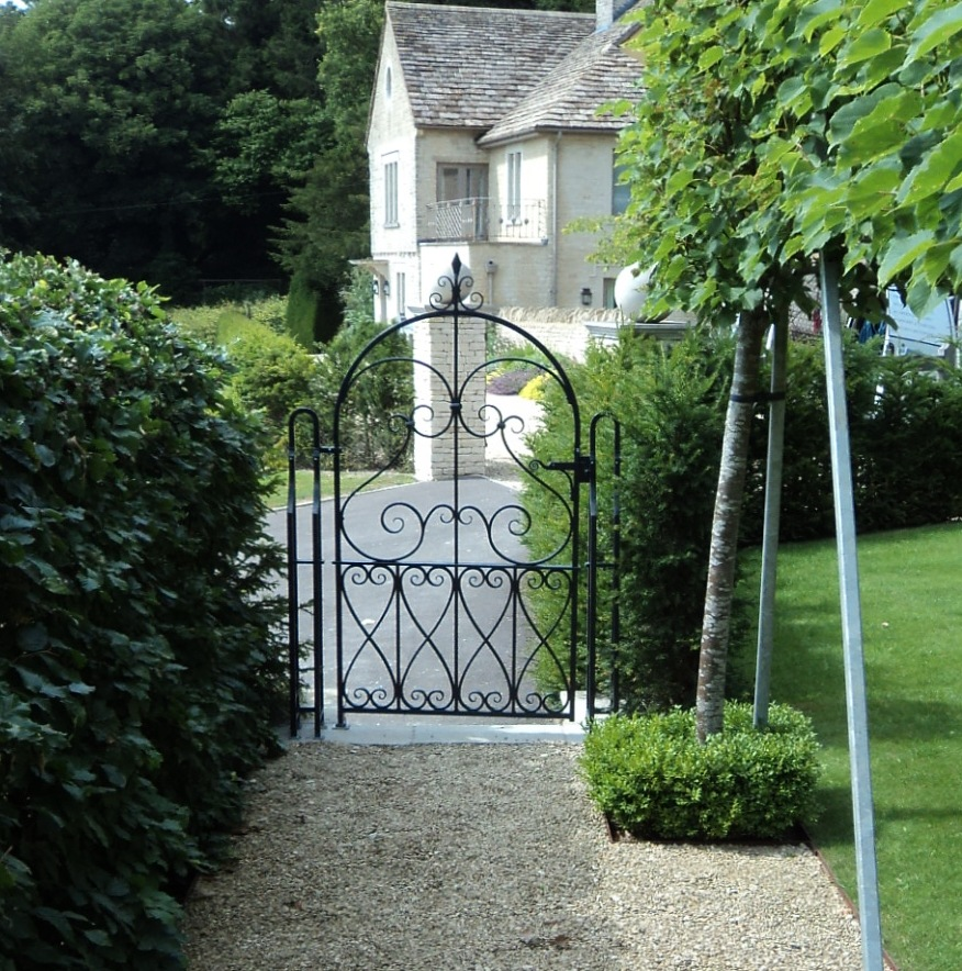 Wrought Iron Gates: Wrought Iron Garden Gate At Horton
