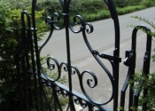 The Single garden gate at Horton, near Bath